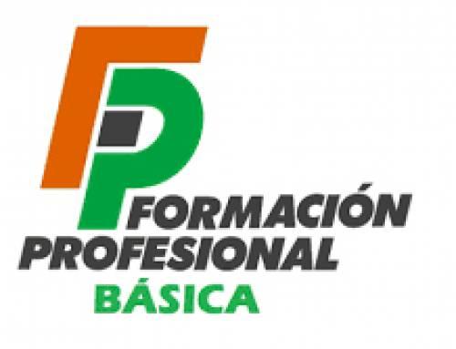 Formación Profesional Básica. Admisión y matriculación de alumnos, curso 2020-21