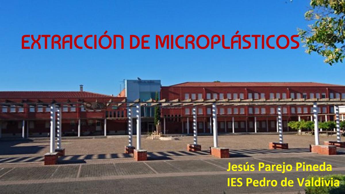 Extracción de microplásticos en el agua