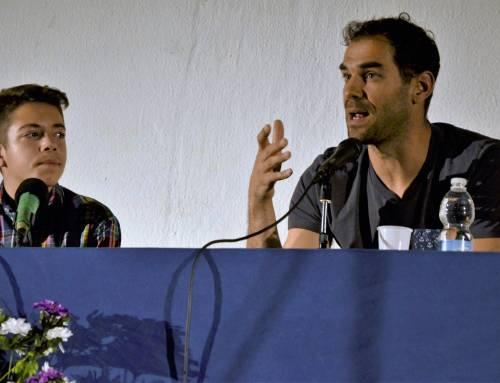 Calderón, con nuestros alumnos.