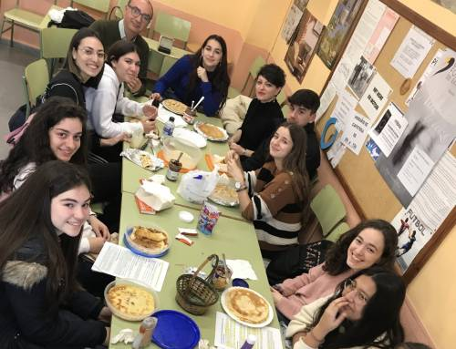 Los alumnos de 2º de bachillerato celebran «La Chandeleur»
