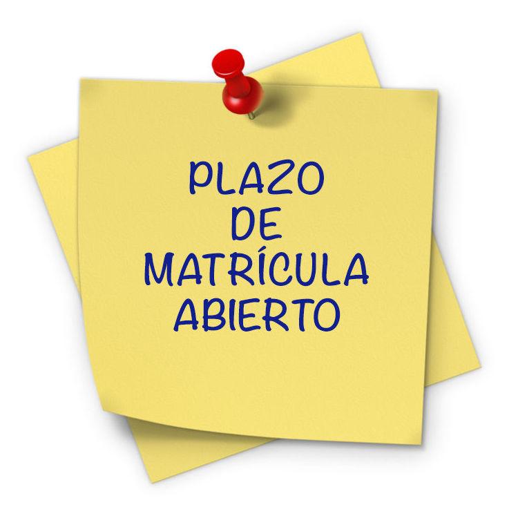 Abierto el plazo de matrícula para alumnos de ESO y Bachillerato