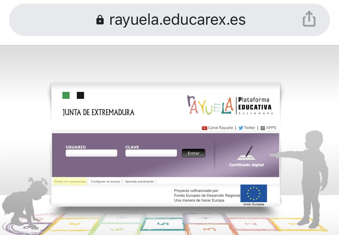 Recupera tus claves de acceso a Rayuela