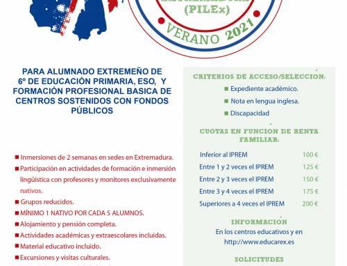 Inmersiones lingüísticas en lengua inglesa verano 2021